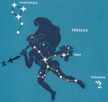 perseus mythology and constellation In 1901 a brilliant nova was observed in the constellation perseus reaches its highest point in the evening sky in late december  mythology, and folklore.